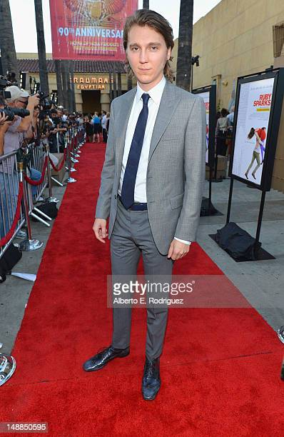 Actor Paul Dano arrives to the premiere of Fox Searchlight's Ruby Sparks at the Egyptian Theatre on July 19 2012 in Hollywood California