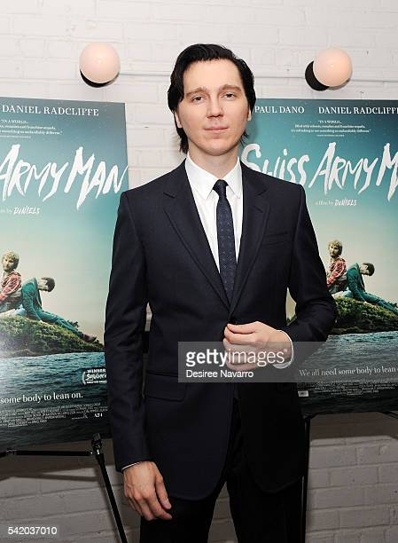 Actor Paul Dano attends 'Swiss Army Man' New York Premiere at Metrograph on June 21 2016 in New York City