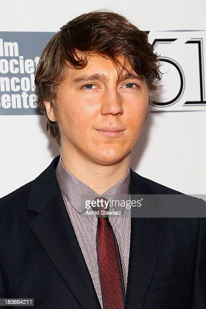 Actor Paul Dano attends the 12 Years A Slave premiere during the 51st New York Film Festival at Alice Tully Hall at Lincoln Center on October 8 2013...