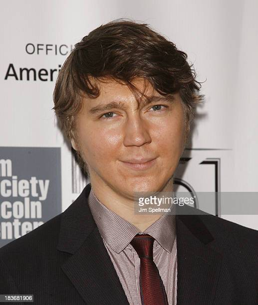 Actor Paul Dano attends the '12 Years A Slave' Premiere during the 51st New York Film Festival at Alice Tully Hall at Lincoln Center on October 8...