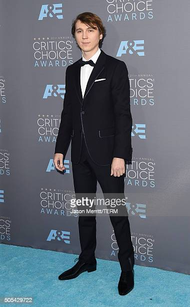 Actor Paul Dano attends the 21st Annual Critics' Choice Awards at Barker Hangar on January 17 2016 in Santa Monica California