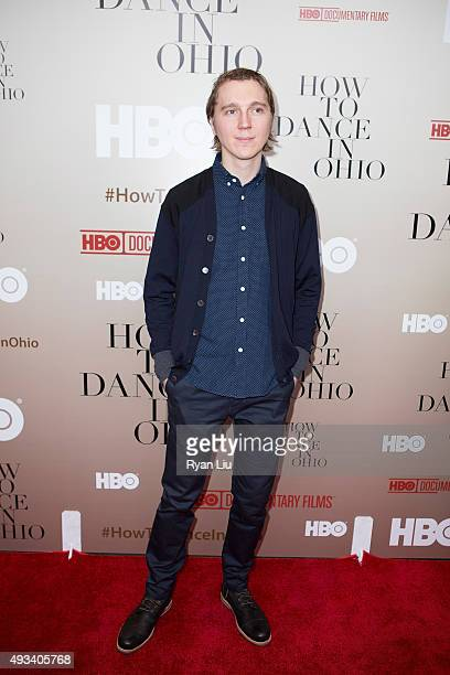 Actor Paul Dano attends the 'How To Dance In Ohio' premiere at Time Warner Center on October 19 2015 in New York City