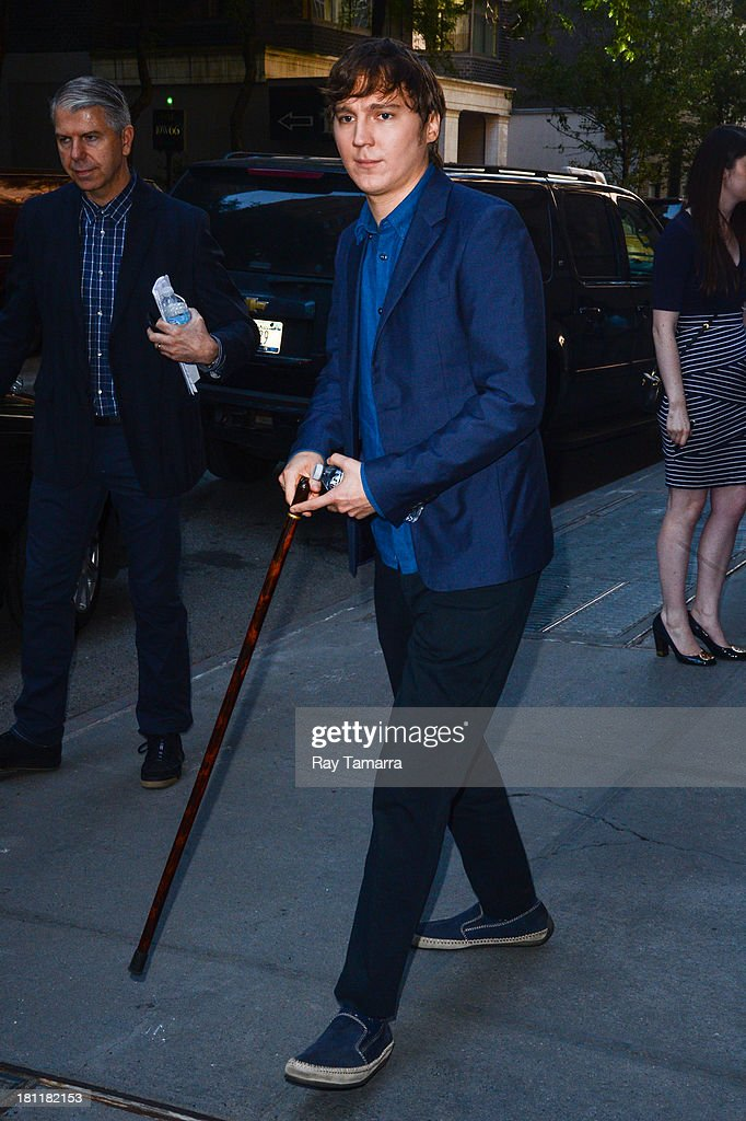 Actor Paul Dano leaves the 'Katie Couric Show' taping at the ABC Lincoln Center Studios on September 19, 2013 in New York City.