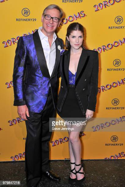 Actor Paul Feig and Actress Anna Kendrick attend 'Refinery29's 29Rooms Turn It Into Art' on June 20 2018 in San Francisco California