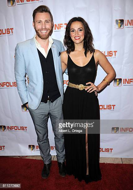Actor Paul Freeman and actress Erin Cahill arrive for the InfoList PreOscar Soiree And Birthday Party for Jeff Gund held at OHM Nightclub on February...