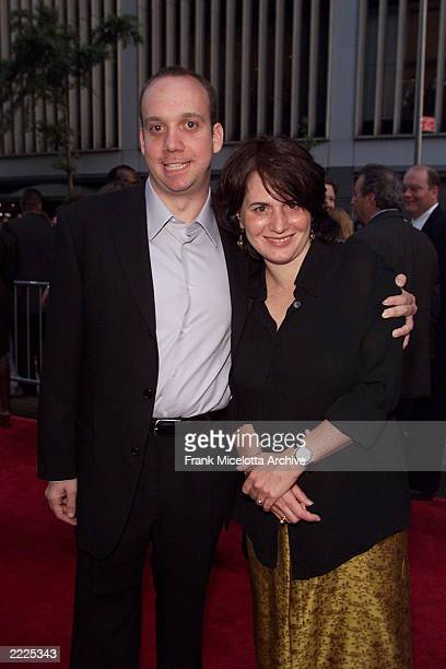 Actor Paul Giamatti and wife Elizabeth arrive for the world premiere of the 20th Century Fox film 'Planet of the Apes' at the Ziegfeld Theater in New...
