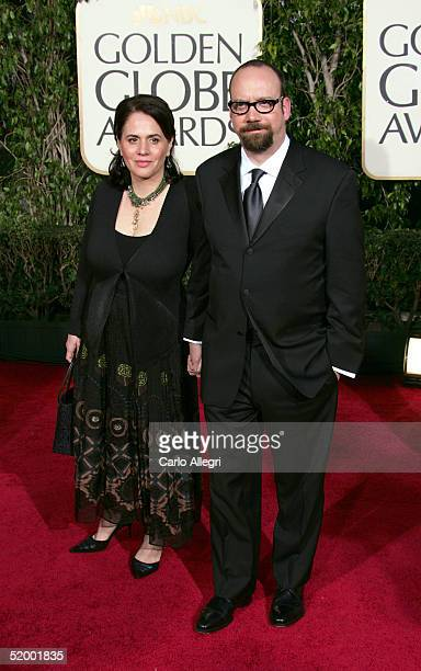 Actor Paul Giamatti and wife Elizabeth Cohen arrive to the 62nd Annual Golden Globe Awards at the Beverly Hilton Hotel January 16 2005 in Beverly...