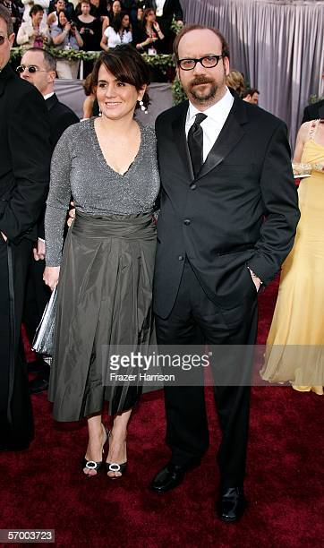 Actor Paul Giamatti and wife Elizabeth Cohen arrive to the 78th Annual Academy Awards at the Kodak Theatre on March 5 2006 in Hollywood California
