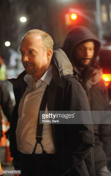 Actor Paul Giamatti on the set of Billions on December 19 2018 in New York City