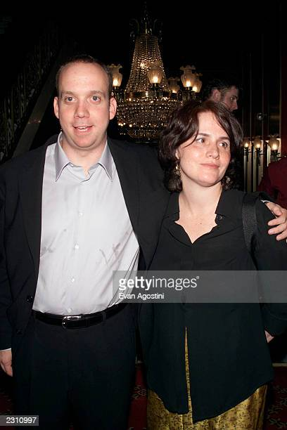 Actor Paul Giamatti with wife Elizabeth at the world premiere of the 20th Century Fox film 'Planet of the Apes' at the Ziegfeld Theater in New York...