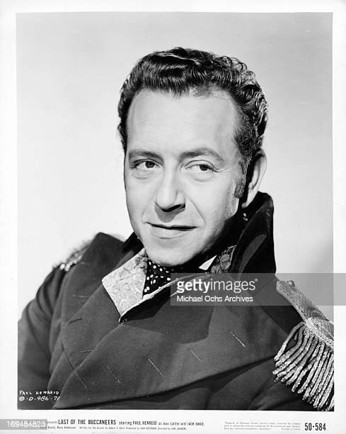Actor Paul Henreid poses for a portrait in circa 1950