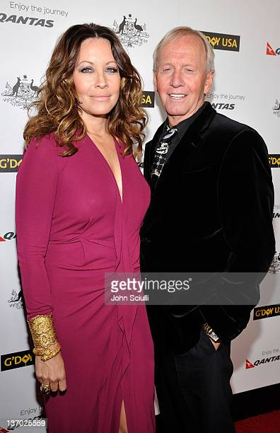 Actor Paul Hogan and Linda Kozlowski arrive at the 9th Annual G'Day USA Los Angeles Black Tie Gala at the Hollywood Highland Grand Ballroom on...