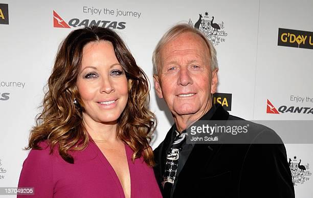 Actor Paul Hogan and Linda Kozlowski arrive at the 9th Annual G'Day USA Los Angeles Black Tie Gala at the Hollywood Highland Grand Ballroom on...