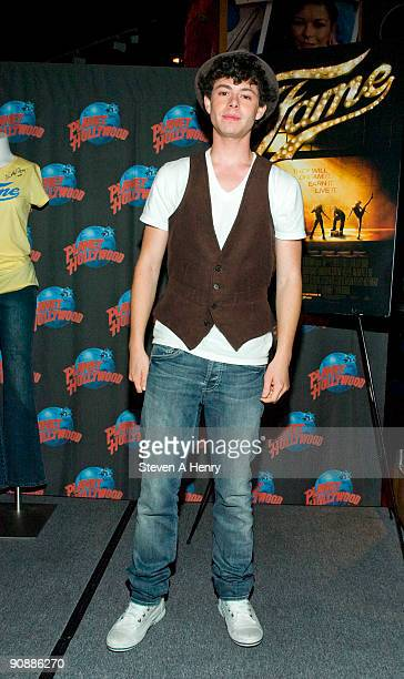 Actor Paul Iacono poses at Planet Hollywood Times Square on September 17, 2009 in New York, City.