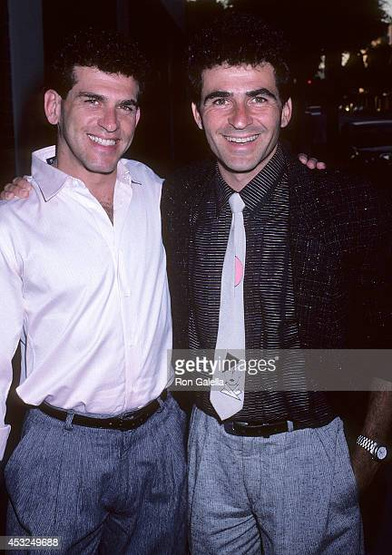 Actor Paul Kreppel and brother Neil attend Broadway on Canon Stage Benefit for the Actors Fund on July 2 1986 at Public State/LA in Los Angeles...