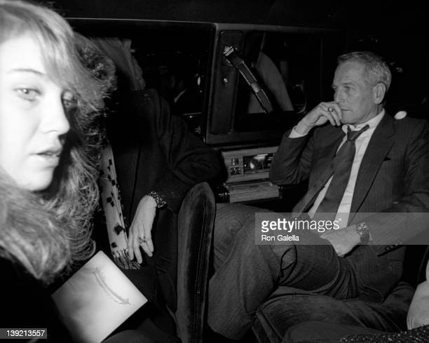 Actor Paul Newman and daughter Clea Newman sighted on November 17 1985 at his Fifth Avenue apartment in New York City