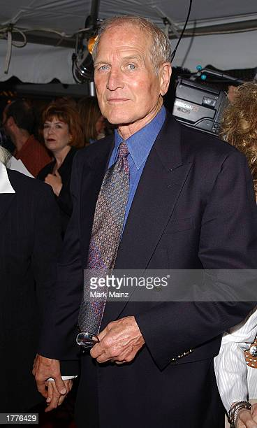 Actor Paul Newman arrives for the Road To Perdition film premiere July 9 2002 at the Ziegfeld Theater in New York City Newman was nominated February...
