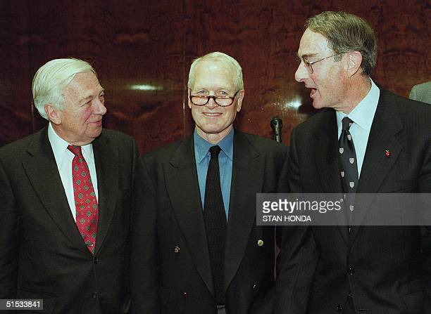 US actor Paul Newman former Deputy Secretary of State John C Whitehead and Peter L Malkin of Wien Malkin LLP announce the formation of the Committee...