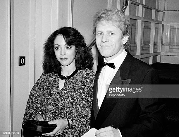 Actor Paul Nicholas and his wife Linzi at the BAFTA Awards ceremony in London on 22nd March 1987.