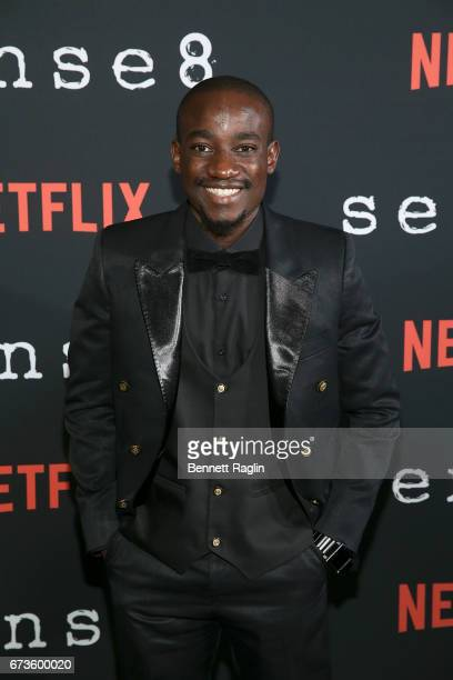 Actor Paul Ogola attends the Sense8 New York premiere at AMC Lincoln Square Theater on April 26 2017 in New York City