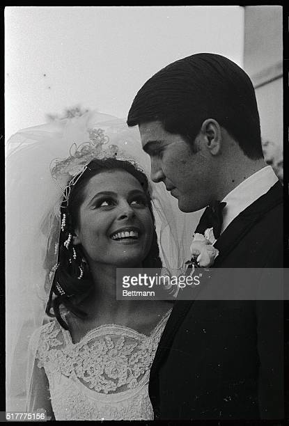 Actor Paul Peterson and his wife the former Brenda Benet leave church after their wedding today Peterson was on the Donna Reed Show on TV and Brenda...