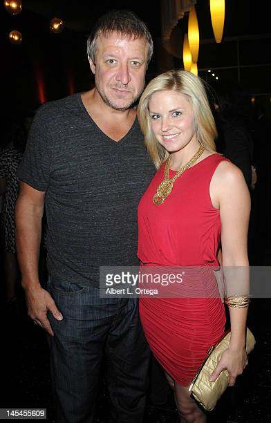 Actor Paul Rae and actress Nikki Griffin at the AfterParty For Cinemax's Femme Fatales 2nd Season held at ArcLight Hollywood on May 21 2012 in...