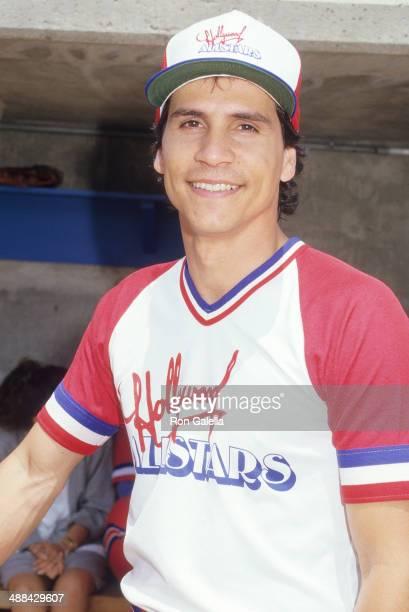 Actor Paul Regina attends Hollywood AllStars vs 'The Bold the Beautiful' Celebrity Softball Game on June 13 1987 at Pepperdine University in Malibu...