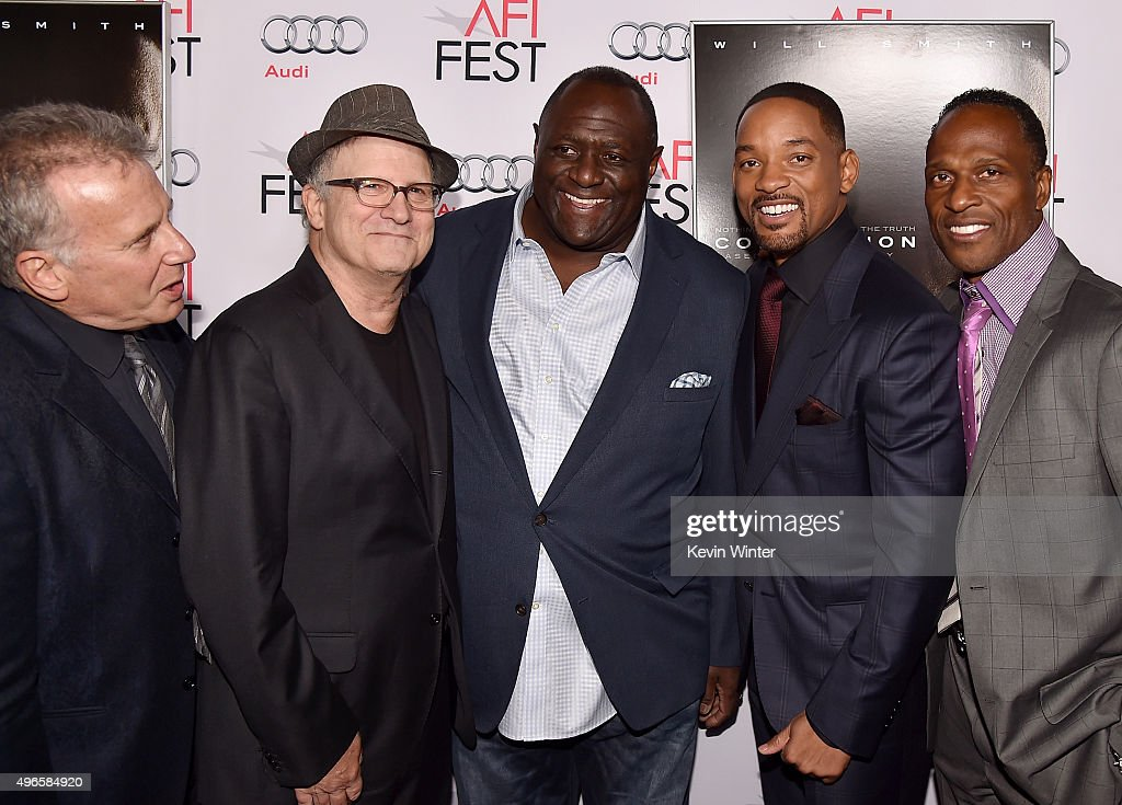 Actor Paul Reiser, actor Albert Brooks, Leonard Marshall, actor Will Smith, and Willie Gault attend the Centerpiece Gala Premiere of Columbia Pictures' 'Concussion' during AFI FEST 2015 presented by Audi at TCL Chinese Theatre on November 10, 2015 in Hollywood, California.