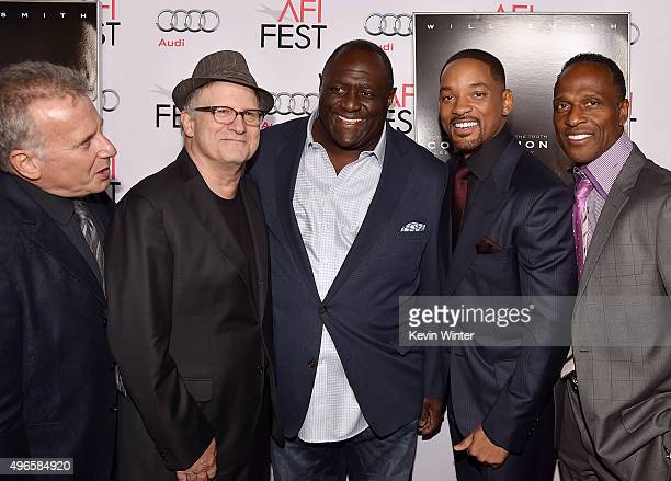 Actor Paul Reiser actor Albert Brooks Leonard Marshall actor Will Smith and Willie Gault attend the Centerpiece Gala Premiere of Columbia Pictures'...