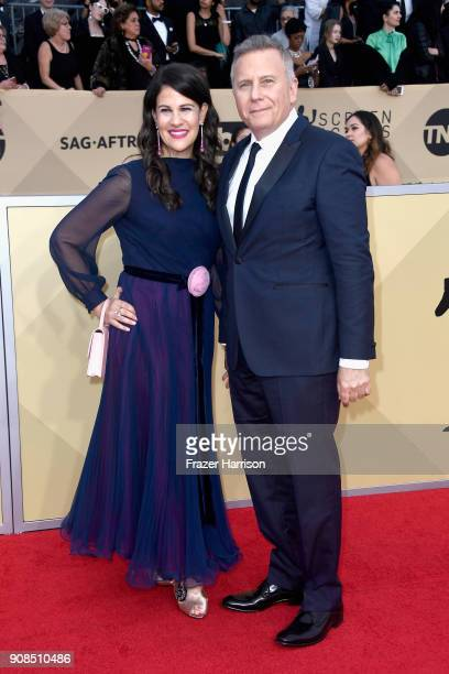 Actor Paul Reiser and Paula Ravets attend the 24th Annual Screen ActorsGuild Awards at The Shrine Auditorium on January 21 2018 in Los Angeles...