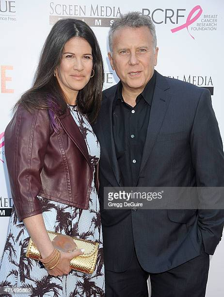 Actor Paul Reiser and wife Paula Ravets arrive at the Los Angeles premiere of Ride at ArcLight Hollywood on April 28 2015 in Hollywood California
