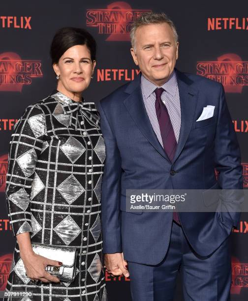 Actor Paul Reiser and wife Paula Ravets arrive at the premiere of Netflix's 'Stranger Things' Season 2 at Regency Bruin Theatre on October 26 2017 in...
