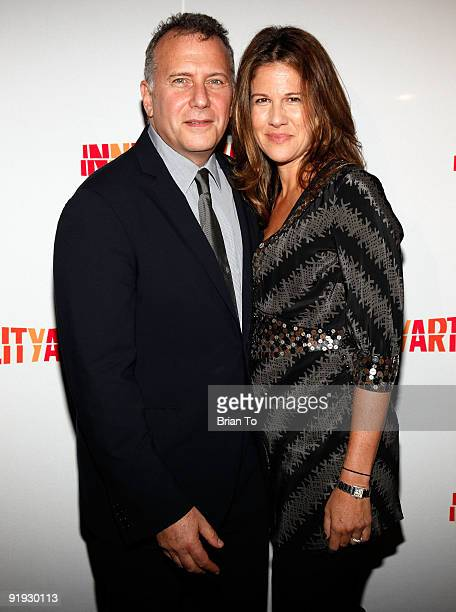 Actor Paul Reiser and wife Paula Ravets attend 2009 20th Anniversary Inner City Arts Imagine Gala And Auction at The Beverly Hilton Hotel on October...