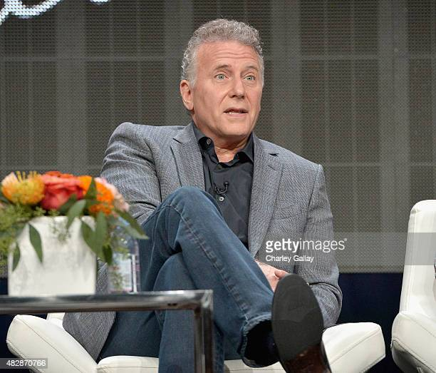 Actor Paul Reiser speaks onstage during the 'Red Oaks' panel discussion at the Amazon Studios portion of the 2015 Summer TCA Tour on August 3 2015 in...