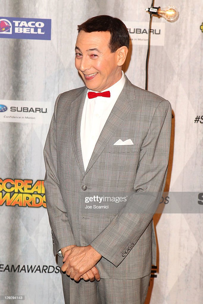Actor Paul Reubens arrives at Spike TV's 'SCREAM 2011' awards held at the Universal Studios Backlot on October 15, 2011 in Universal City, California.