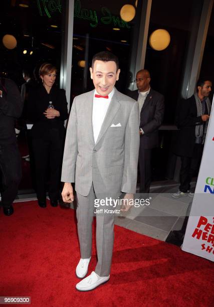 Actor Paul Reubens arrives to the opening night of The Peewee Herman Show Los Angeles Opening Night at Club Nokia on January 20 2010 in Los Angeles...
