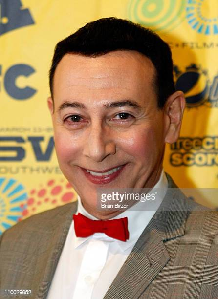 Actor Paul Reubens attends the 2011 SXSW Music Film Interactive Festival 'The PeeWee Herman Show' Premiere at The State Theatre on March 12 2011 in...