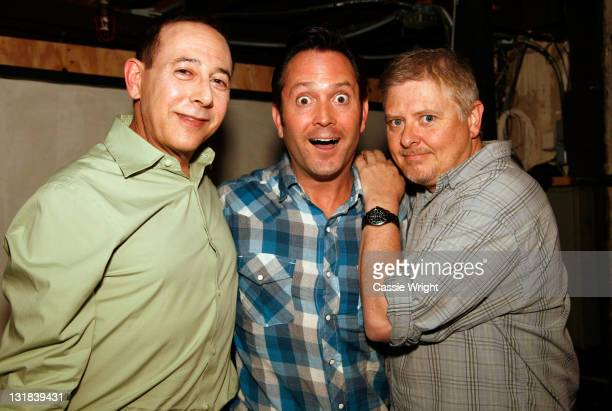 Actor Paul Reubens comedians Thomas Lennon and Dave Foley attend the 2011 SXSW Music Film Interactive Festival Comedy DeathRay Radio With Scott...