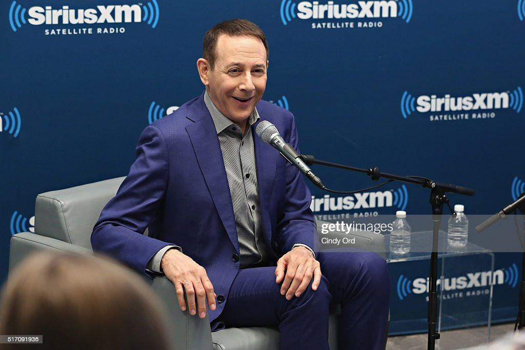 Actor Paul Reubens takes part in SiriusXM's 'Town Hall' with Paul Reubens hosted by Dalton Ross at the SiriusXM Studios on March 23, 2016 in New York City.