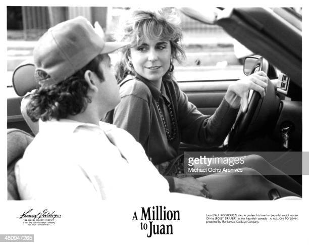 Actor Paul Rodriguez and actress Polly Draper in a scene from the movie A Million to Juan circa 1994