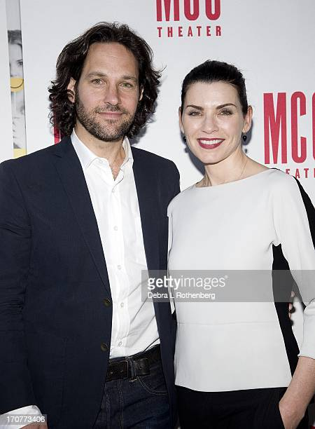Actor Paul Rudd and Actress Julianna Margulies attend The Mercy Seat Benefit Reading at Lucille Lortel Theatre on June 17 2013 in New York City