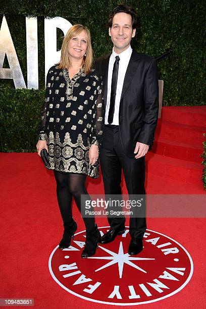 Actor Paul Rudd and Julie Yaeger arrive at the 19th Annual Elton John AIDS Foundation's Oscar viewing party held at the Pacific Design Center on...