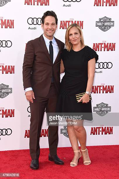Actor Paul Rudd and Julie Yaeger arrive at the Los Angeles Premiere of Marvel Studios 'AntMan' at Dolby Theatre on June 29 2015 in Hollywood...