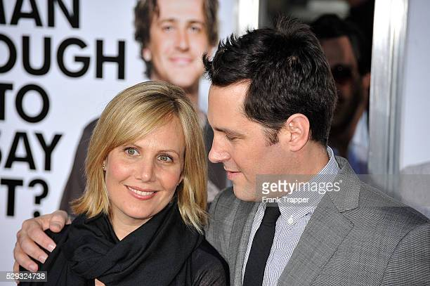 """Actor Paul Rudd and Julie Yaeger arrive at the premiere of """"I Love You, Man"""" held at Mann's Village Theater in Westwood.."""