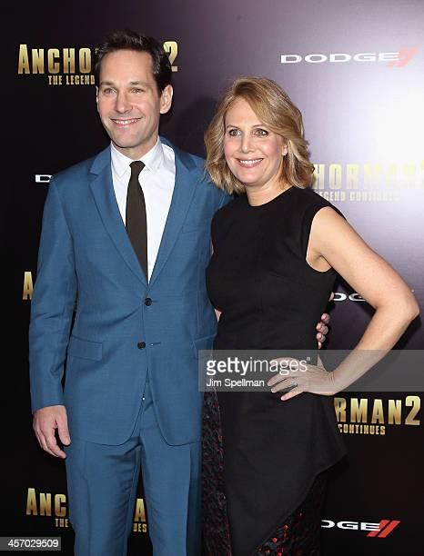 """Actor Paul Rudd and Julie Yaeger attend the """"Anchorman 2: The Legend Continues"""" U.S. Premiere at Beacon Theatre on December 15, 2013 in New York City."""