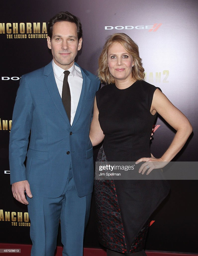 Actor Paul Rudd and Julie Yaeger attend the 'Anchorman 2: The Legend Continues' U.S. premiere at Beacon Theatre on December 15, 2013 in New York City.