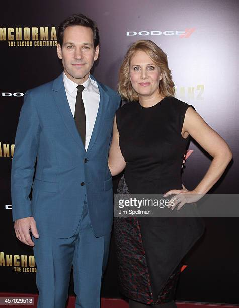 Actor Paul Rudd and Julie Yaeger attend the Anchorman 2 The Legend Continues US premiere at Beacon Theatre on December 15 2013 in New York City