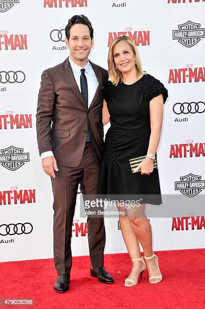 Actor Paul Rudd and producer Julie Yaeger arrive at the Los Angeles Premiere of Marvel Studios 'AntMan' at Dolby Theatre on June 29 2015 in Hollywood...
