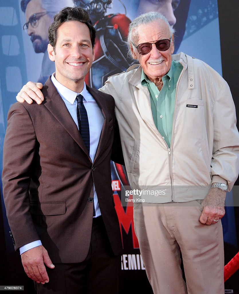 Actor Paul Rudd and Stan Lee attend the Premiere of Marvel's 'Ant-Man' at the Dolby Theatre on June 29, 2015 in Hollywood, California.