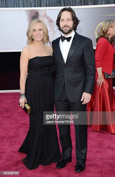 paul rudd wife stock photos and pictures getty images